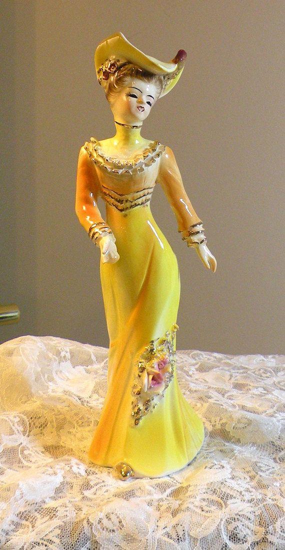 Porcelain Figurine Victorian Lady