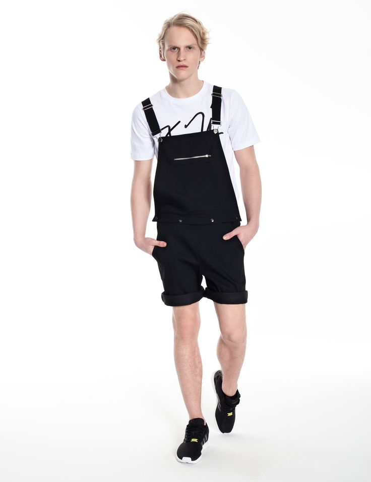 Model is wearing: balck COMBO dungaree & white XY chromosomes t-shirt
