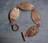 Turn souvenir pressed pennies into a unique bracelet