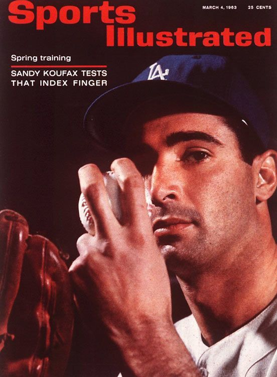 "Sandy Koufax on the cover of ""Sports Illustrated"""