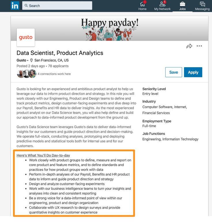 How to write linkedin job descriptions ongig blog in