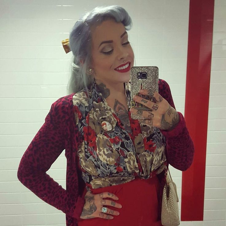 Lucy looking amazing in her I Love Lucy brooch!