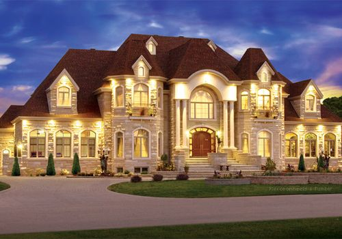 Exterior - True sense of grandeur with unparalleled architectural detailing! I love just how stunning this home is even at night.