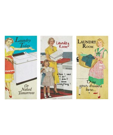 'Laundry' To-Do Wrapped Canvas Set by Ohio Wholesale, Inc. #zulily #zulilyfinds