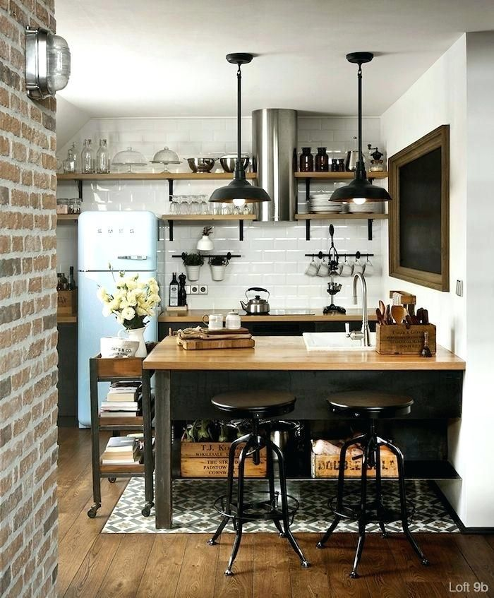 Small Urban Kitchen Design Trendy Modernity Meets Retro Charm More Loft Kitchen Kitchenette Meaning Kitchen Inspirations Kitchen Design Modern Kitchen