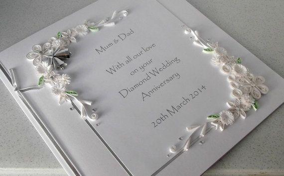 Diamond Wedding Gift Ideas: 60th Diamond Wedding Anniversary Card, Personalised