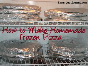 Freezer Cooking: Homemade Pizzas » Just Joanna