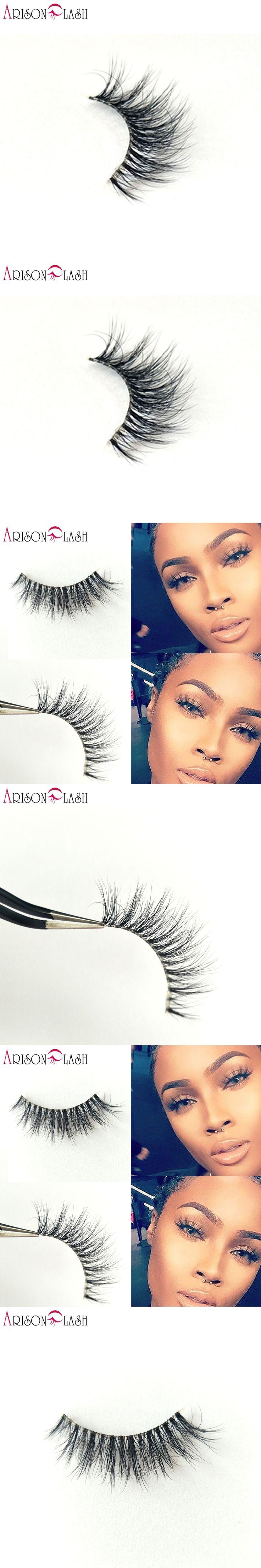NEW Arison Cathy4 3D Mink Eyelashes Transparent Plastic Luxurious Thick fake eyelashes & permanent False Full Strip Eyelashes