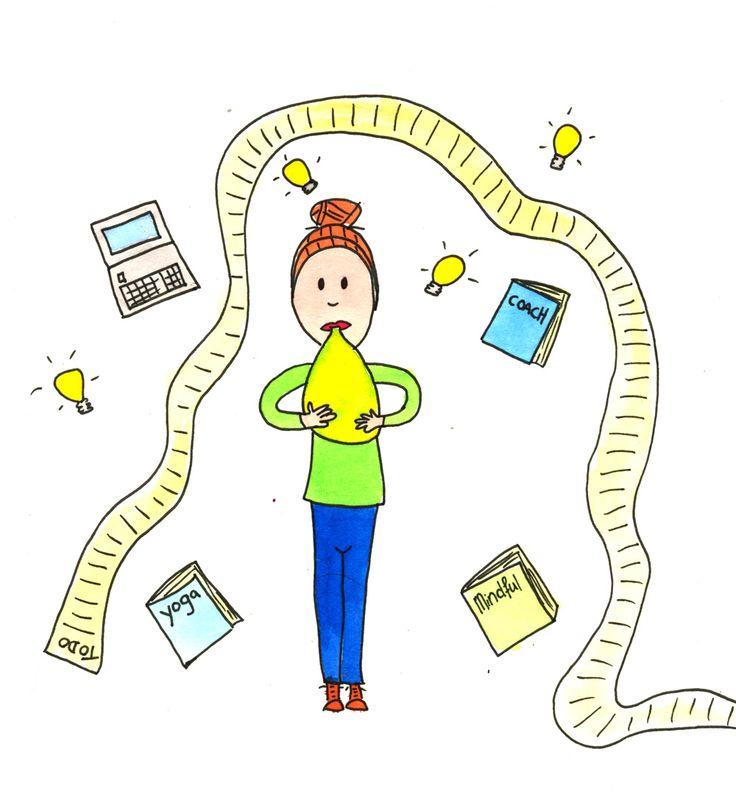 Illustratie: so much to do... Gemaakt door: Jiska Clevering-Hartsuiker. Ecoline en fineliner Sterrig verzorgt illustratieworkshops.