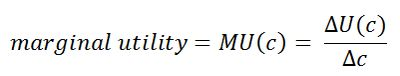 Measures and Properties of Utility: Marginal Utility