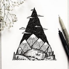 """Bergsee"" eine Campinglandschaft // #Berg #Baum #Wolken #Natur…"