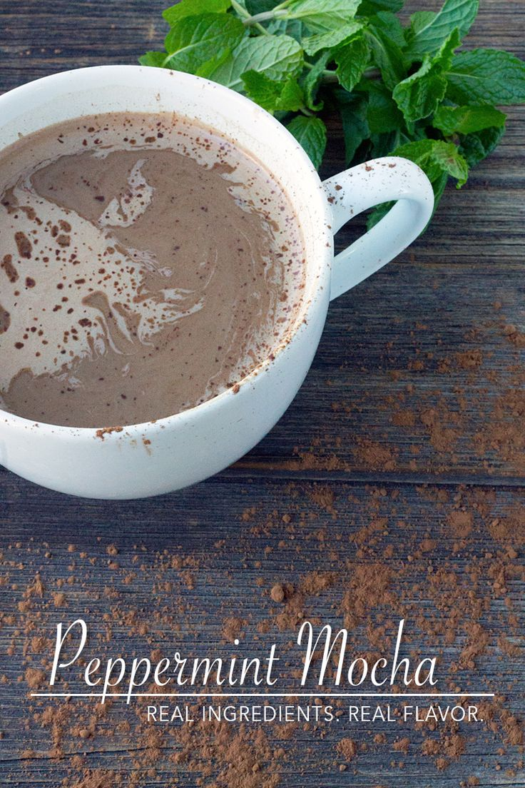 Warm up on cold days with a homemade Peppermint Mocha | Fireflies and Mud Pies