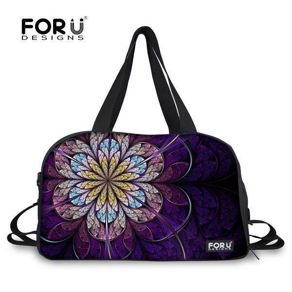 Multicolor Floral Women Gym Tote Bag Flower Printing Female Ladies Gym Bag With Independent Shoe socket Bolsa Fitness Feminina