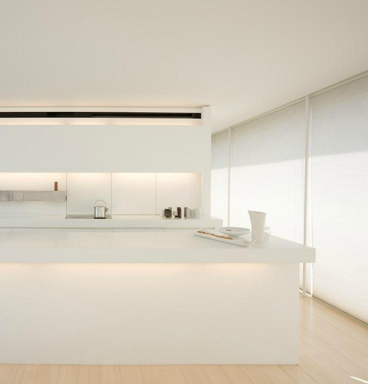 Minimal white kitchen.