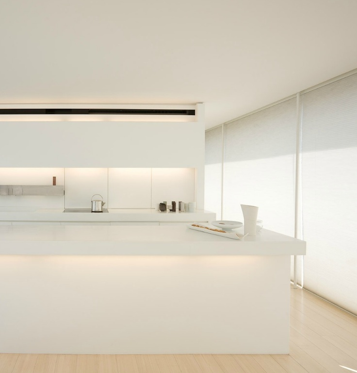 Minimal white kitchen.