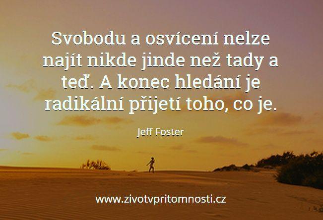 http://www.zivotvpritomnosti.cz/clanky/tag/jeff-foster/