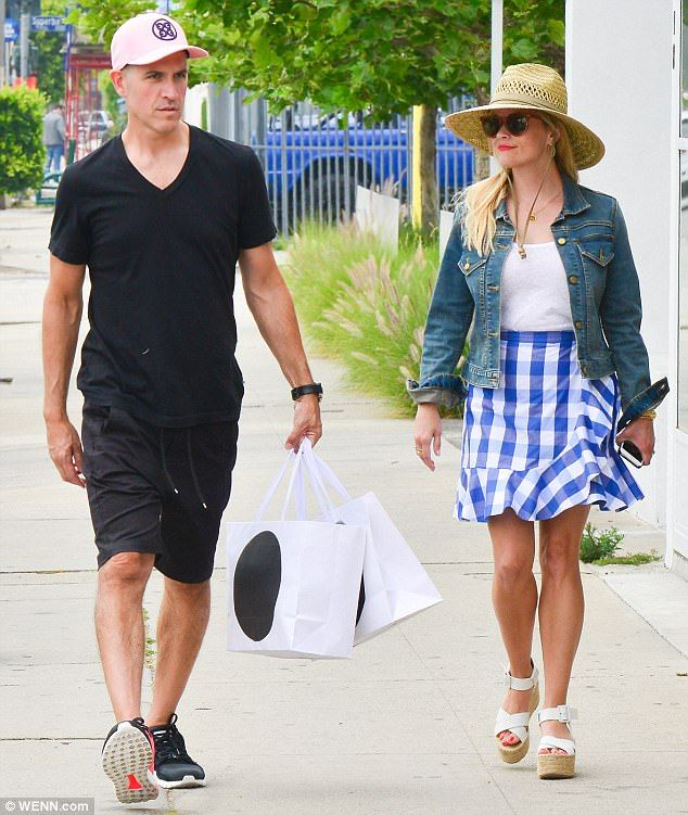 Couples' outing: On Saturday, Reese Witherspoon, 41, and husband Jim Toth enjoyed quality ...