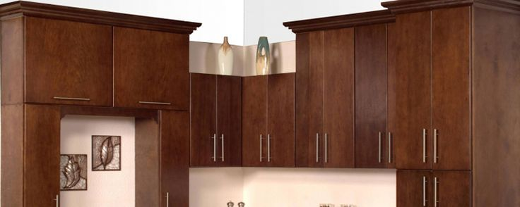 Our Corbin Slab Kitchen Cabinets Are Made From Walnut With An Espresso