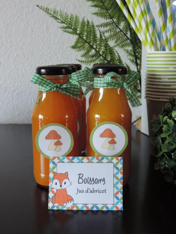 Bouteilles personnalisées anniversaire petit renard