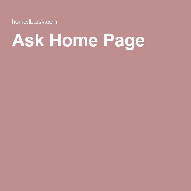 Ask Home Page