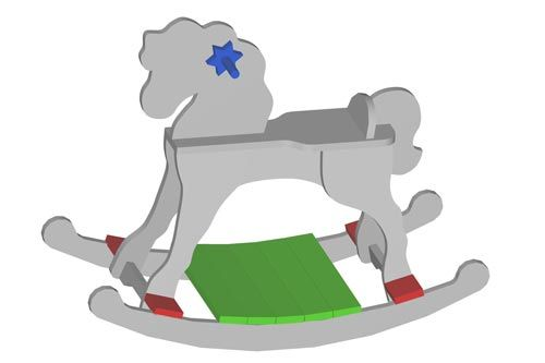 Easy to make free wooden rocking horse plans include step by step instructions with diagrams and photos. Made by you with Tender Loving Care and project timber.