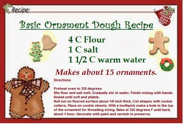 Time For The Holidays: Cookie Dough Ornament Ideas. This is one of my favorite Christmas memories, making these with my mom as a child.