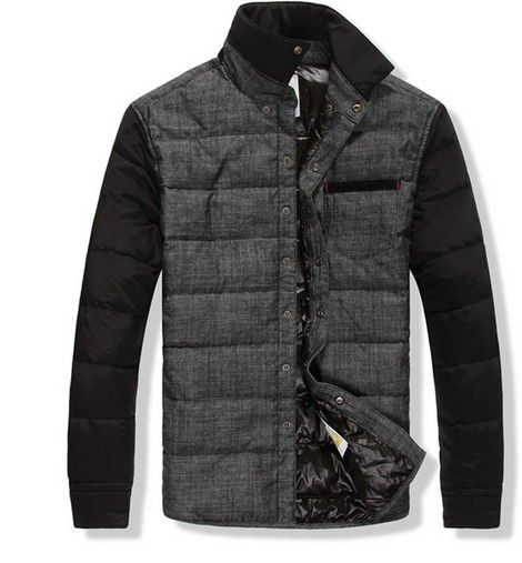 Moncler Men Black And Grey Down Jacket Coat