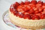 Cheesecake+met+aardbeien