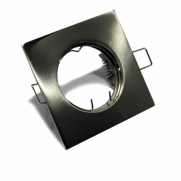 Aro empotrable cuadrado para dicroica LED no basculante Ø65/75x75mm Color níquel mate http://www.barcelonaled.com/accesorios-para-instalacion/675-aro-empotrable-cuadrado.html