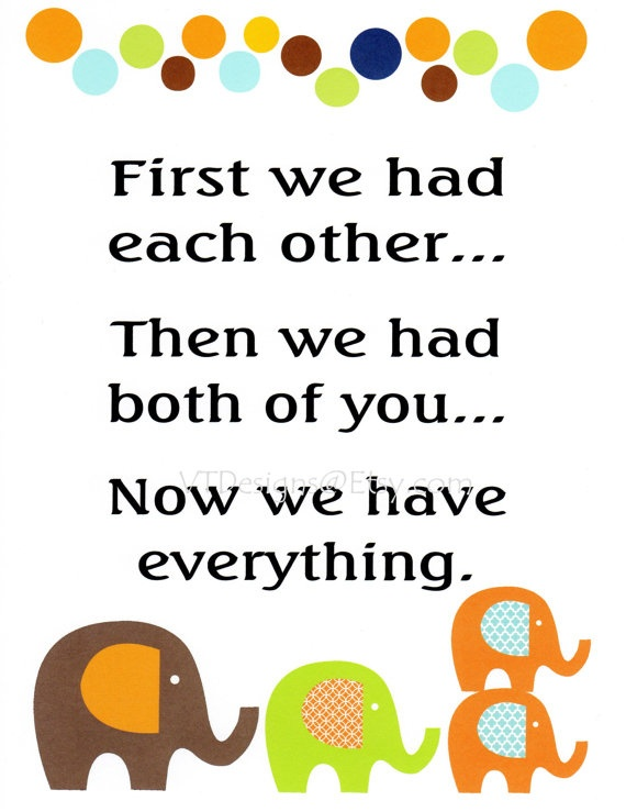 Baby boy twins kids wall art baby boy nursery decor quotes for twins