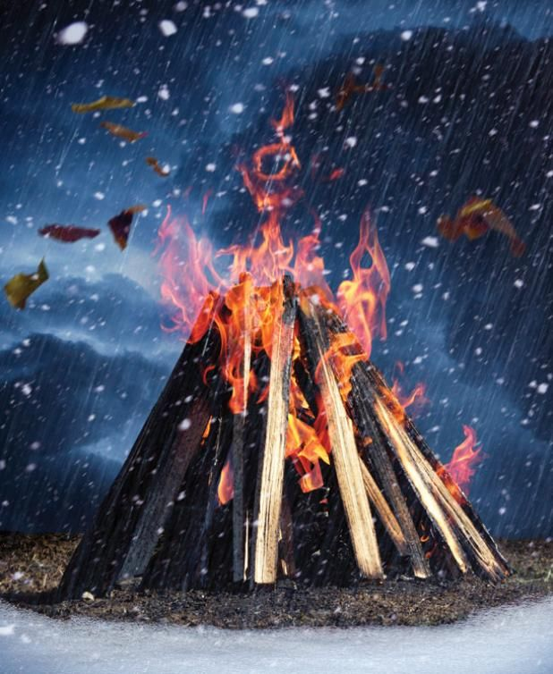How to Build a Survival Fire in Bad Weather when you usually need it most.. rain wind and snow