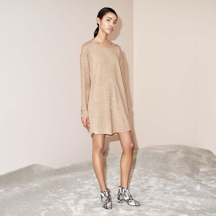FWSS AFTERLIFE DRESS CAMEL  www.fallwinterspringsummer.com