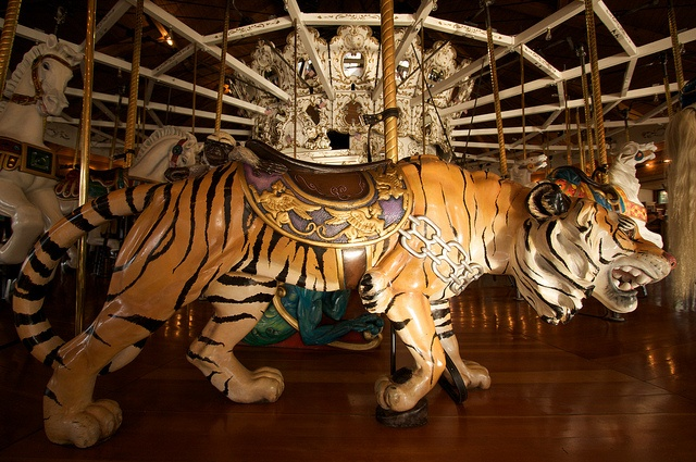 Looff Carousel Tiger in Riverfront Park