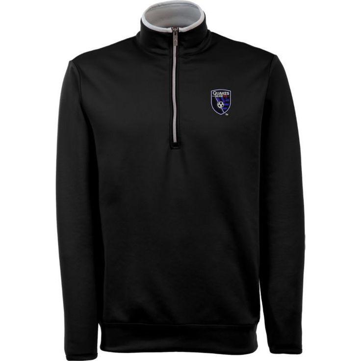 Antigua Men's San Jose Earthquakes Leader Black Quarter-Zip Jacket, Size: Medium, Team https://www.fanprint.com/licenses/navy?ref=5750
