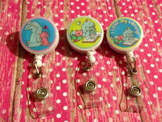 elephant and piggie badge reels.