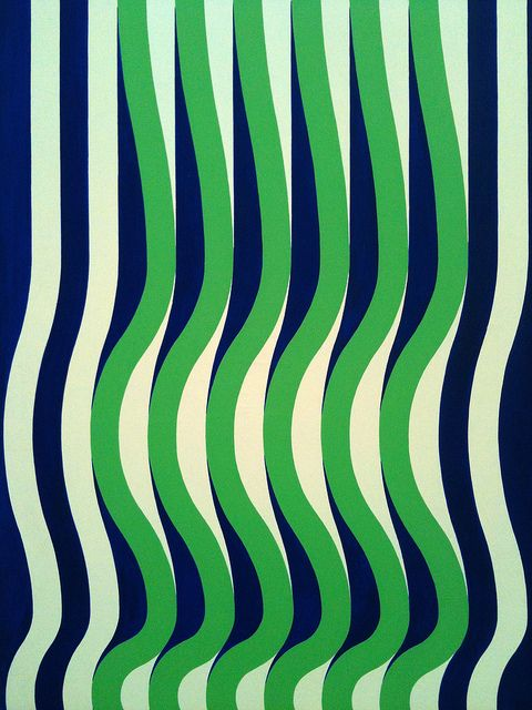 Michael Kidner, Blue Green and White Wave 1964 by _unlikely on Flickr.