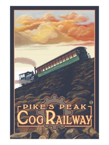 Pikes Peak, Colorado, Pikes Peak Cog Railroad Art Print