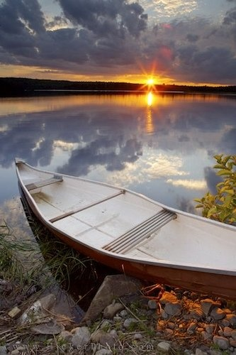 :-) been there. Stayed on a lake the sunset just like that. Definitely on my top ten list Nova Scotia Sunset