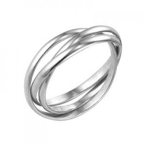 Кольцо  3в 1 381 Основа - мельхиор, серебрение