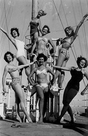 Posing on that Greek boat as they travel to Istanbul.