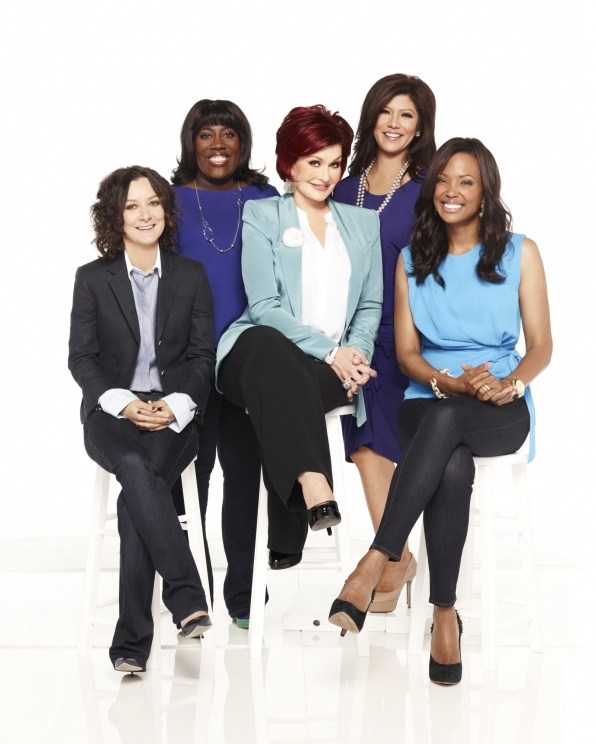 The Talk's Julie Chen, Sara Gilbert, Sharon Osbourne, Sheryl Underwood and Aisha Tyler posing pretty for the new season!