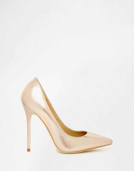Public Desire | Public Desire Josie Rose Gold Court Shoes