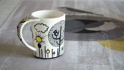 ručně malovaný hrnek / hand painted cup