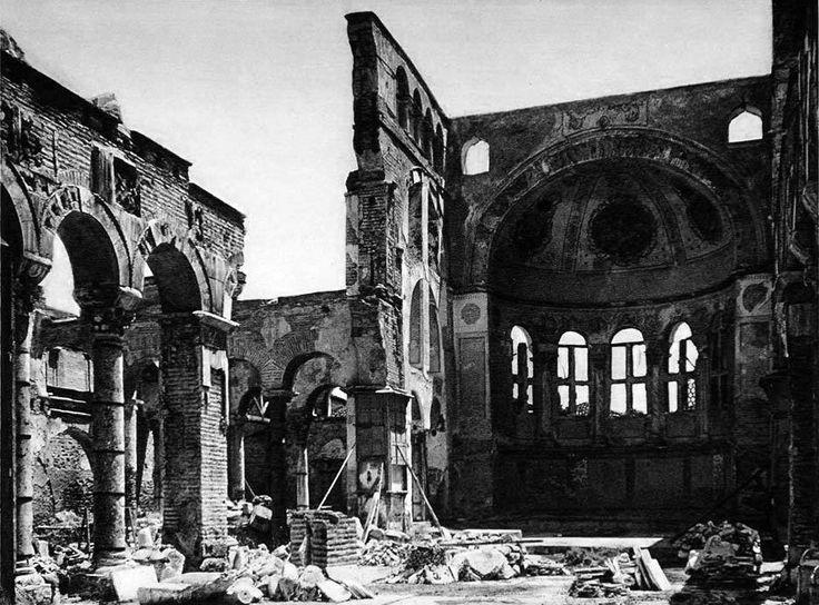 Θεσσαλονίκη, 1917. Ο Ναός του Αγίου Δημητρίου λίγες μέρες μετά την καταστροφή. Δημοσίευση Θεόδωρου Μεταλληνού.