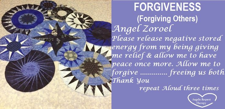 Forgiving others can be one of the most painful things to do. Ask the Angels to help you & you will free yourself from this restricting energy!