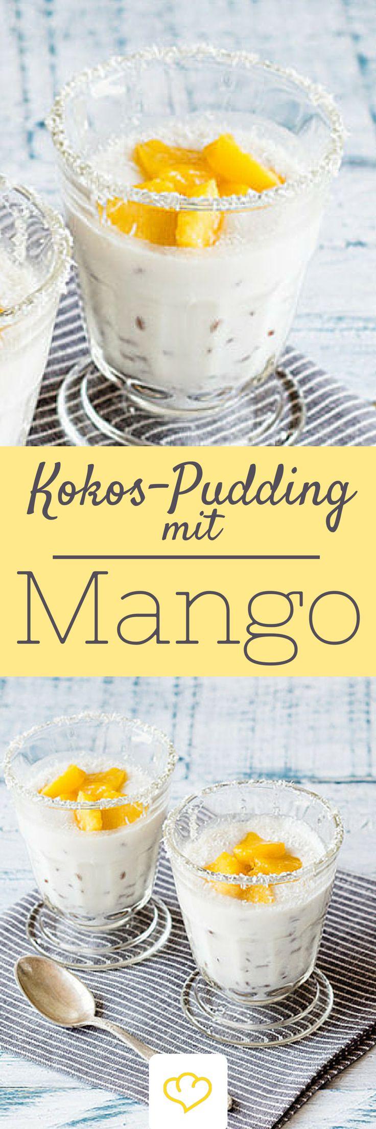 Dieses Dessert macht Lust auf Sommer, Süßes und Urlaub. Der cremige Kokos-Pudding sorgt zusammen mit der saftigen Mango für eine süße Erfrischung und Karibik-Flair im Glas. Chia-Samen versorgen dich mit ausreichend Protein und machen lange satt. Am Abend vorbereiten und am nächsten morgen genießen: Kokos-Pudding mit Mango!