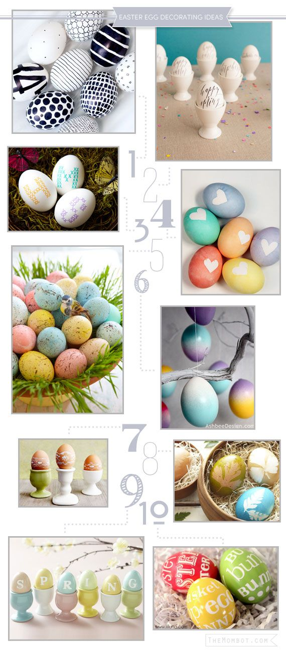 10 creative ideas for decorating easter eggs | TheMombot.com
