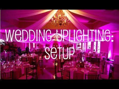 Wedding Uplighting Setup in Banquet Hall - YouTube & 25+ cute Uplighting rental ideas on Pinterest | DIY wedding ... azcodes.com