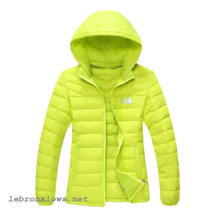 outlet The North Face Nuptse Goose Womens Down Jackets Chartreuse cheap for  sale