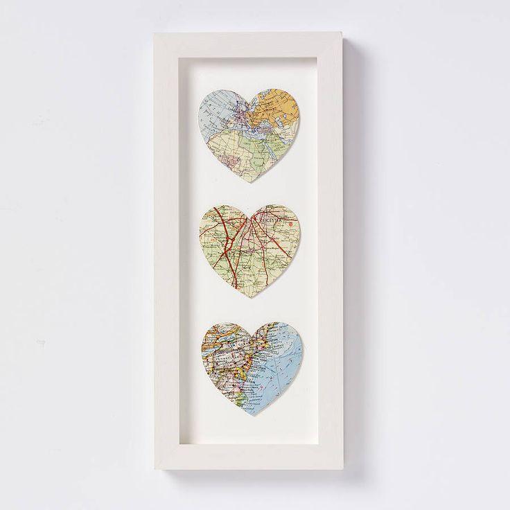 Bespoke Map Heart Trio Artwork By Bombus: 17 Best Images About Bruiloft / Huwelijk / Persoonlijk